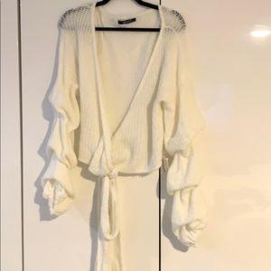 Ivory Wrap Sweater